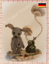 Soft Sculpture - Grey Rabbit lives in Germany - Click the picture to see more of Soft Sculpture - Grey Rabbit!